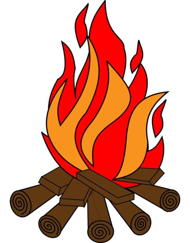 Disegno di fuoco a colori per bambini for Fuoco finto per camino