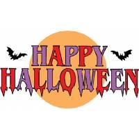 disegno di Scritta Happy Halloween a colori