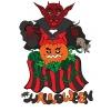Disegno di Diavolo di Halloween a colori
