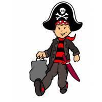 Disegno di Il Bambino Pirata a colori