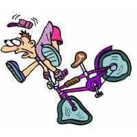 Disegno di Caduta in Bicicletta a colori
