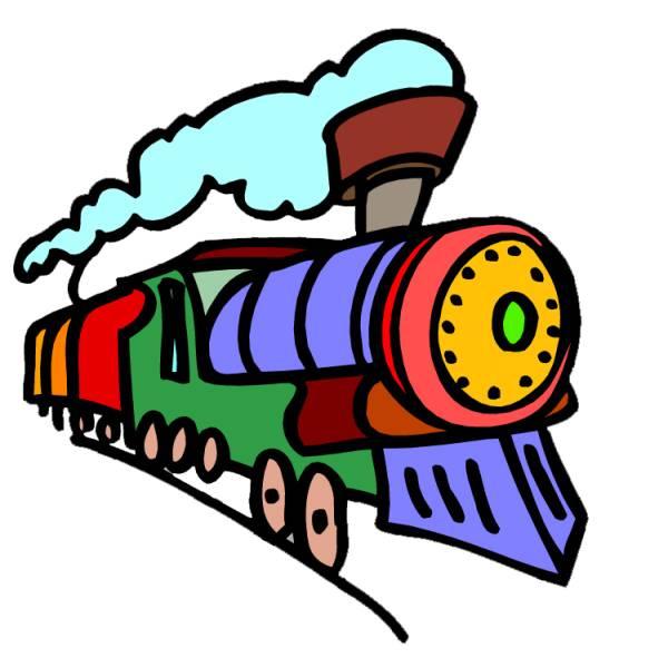 Disegno di treno a colori per bambini