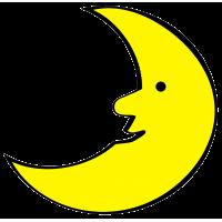 disegno di La Luna a colori
