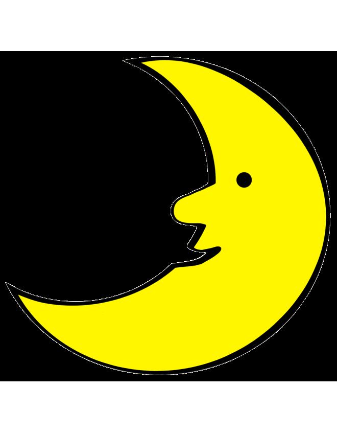 Disegno di la luna a colori per bambini