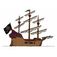 disegno di La Nave Pirata a colori