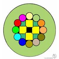 Disegno di Mandala 6 a colori