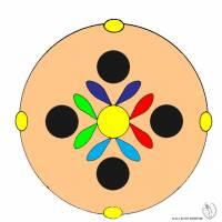 Disegno di Mandala 7 a colori