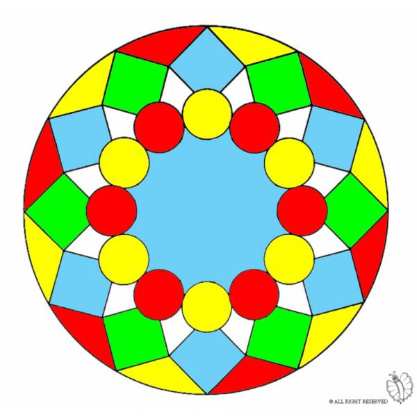 Disegno di Mandala 8 a colori