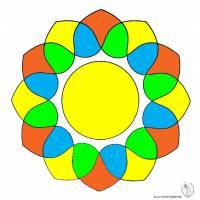 Disegno di Mandala 5 a colori