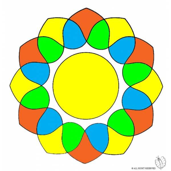 Disegno di mandala 5 a colori per bambini - Immagini di tacchini a colori ...