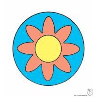Disegno di Mandala 3 a colori