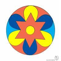 Disegno di Mandala 2 a colori