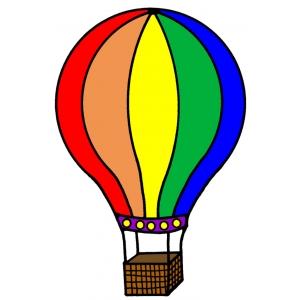 Disegno di la mongolfiera a colori per bambini gratis for Mongolfiera da colorare