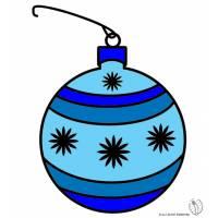 Disegno di Addobbi di Natale a colori