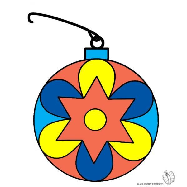 Disegno di addobbi natalizi a colori per bambini for Addobbi natalizi per scuole materne