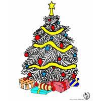 Disegno di Albero di Natale con Regali a colori