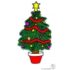 Disegno di Albero di Natale Decorato a colori