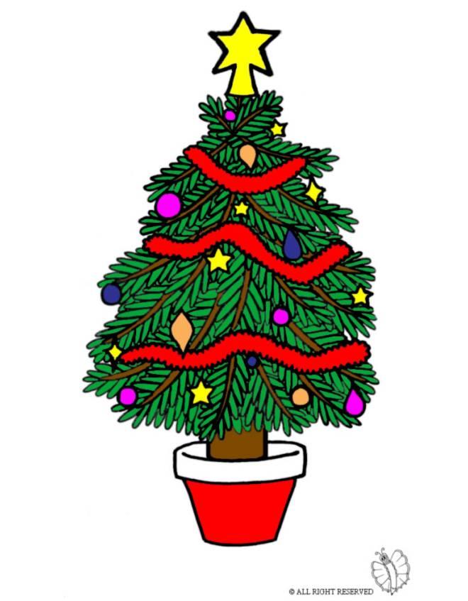Stampa disegno di albero di natale decorato a colori - Foto di alberi di natale decorati ...