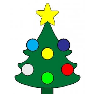 Disegno di albero di natale a colori per bambini gratis - Disegni di natale per finestre ...