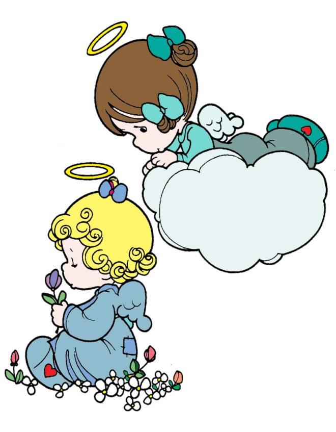 Disegno di angioletti a colori per bambini for Disegni di angeli da colorare per bambini