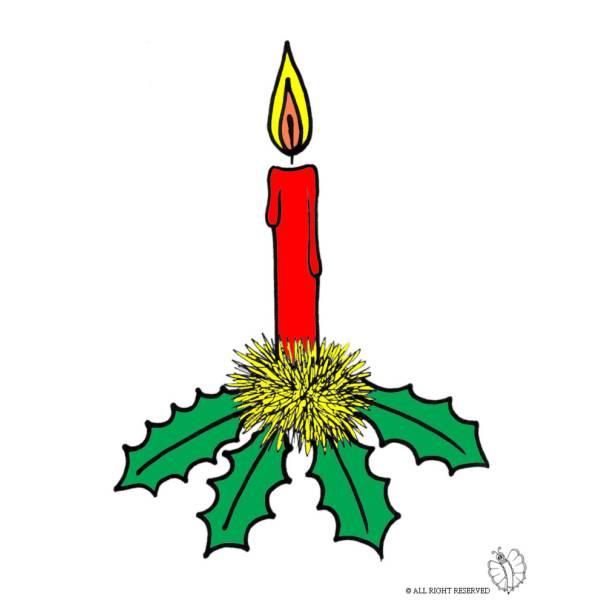 Disegno di Candela di Natale a colori