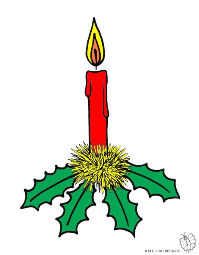 Disegno di candela di natale a colori per bambini - Immagini di marmellata di animali a colori ...