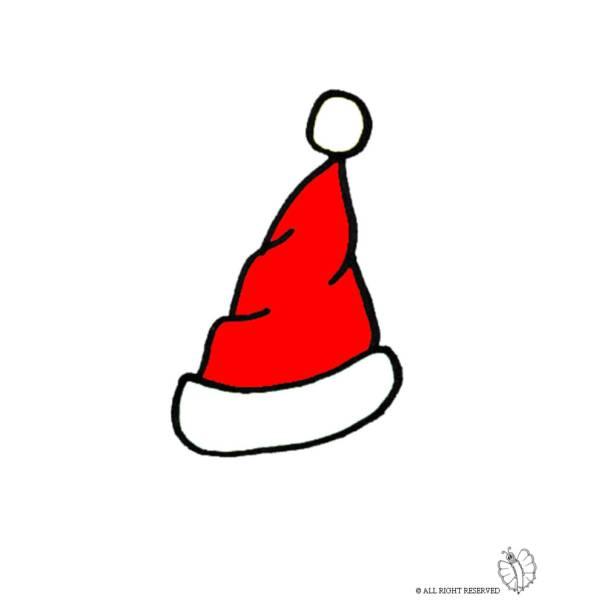 Disegno di Cappello di Babbo Natale a colori