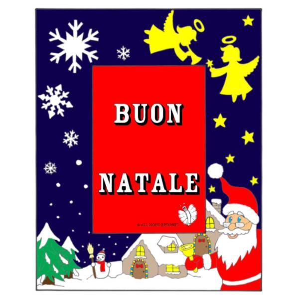 Disegno di Cornice Buon Natale a colori