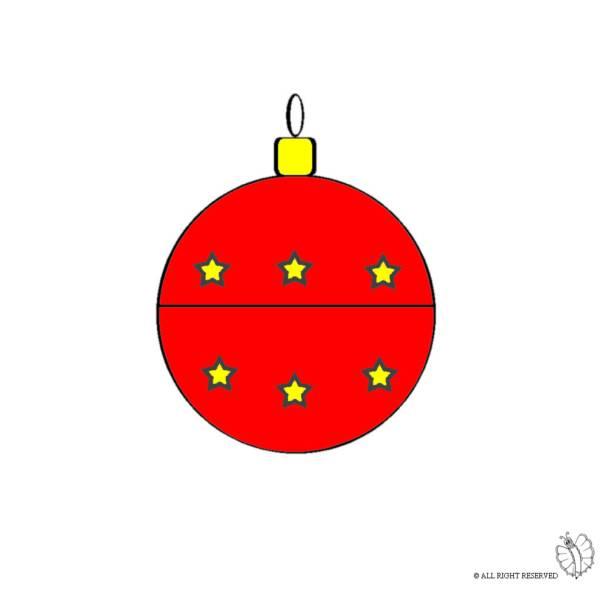 Disegno di Decorazioni per Natale a colori