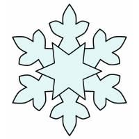 Disegno di Fiocco di Neve a colori