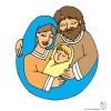 disegno di Santa Famiglia a colori