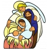 Disegno di La Sacra Famiglia a colori
