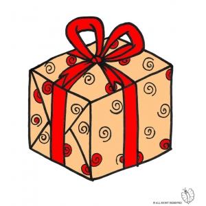 Disegno di pacco regalo con fiocco a colori per bambini for Pc in regalo gratis