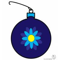 Disegno di Pallina di Natale Decorata a colori