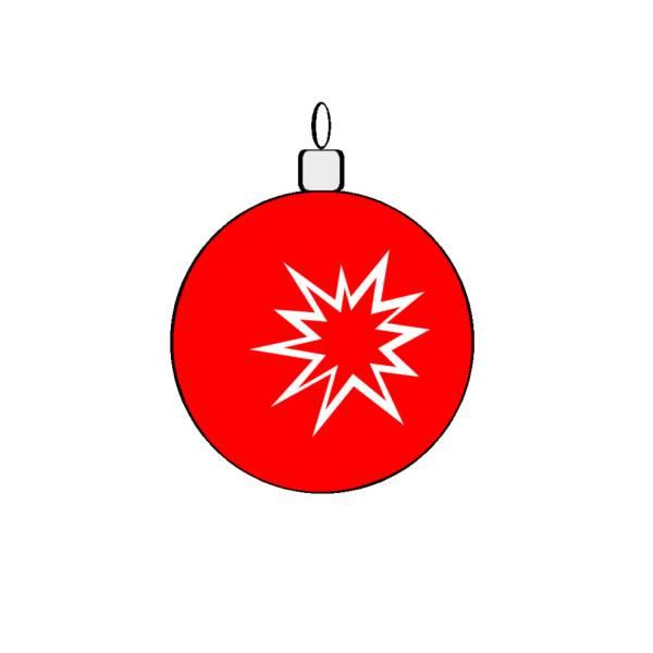 Disegno di pallina natalizia a colori per bambini - Immagini a colori di natale gratis ...