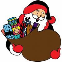 Disegno di Sacco di Babbo Natale a colori