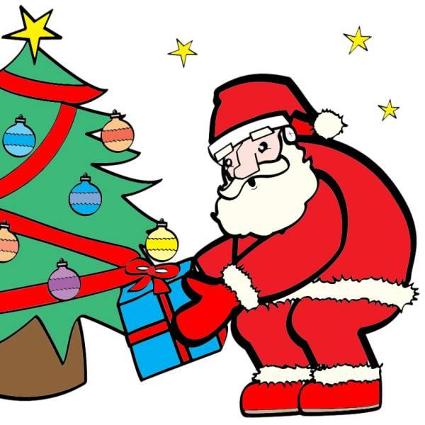 Disegno Di Babbo Natale E I Regali A Colori Per Bambini
