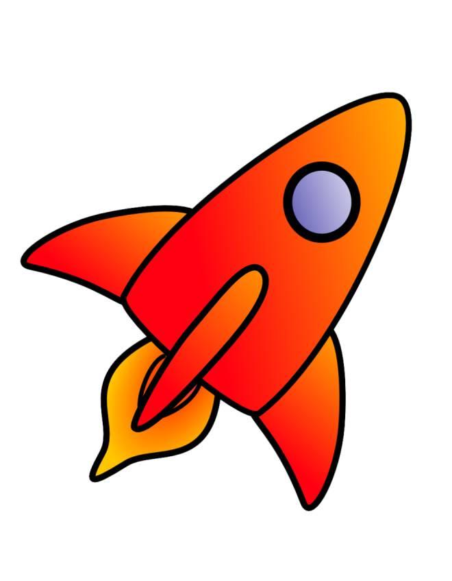 disegno di navicella spaziale a colori per bambini