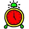 disegno di Orologio Sveglia a colori