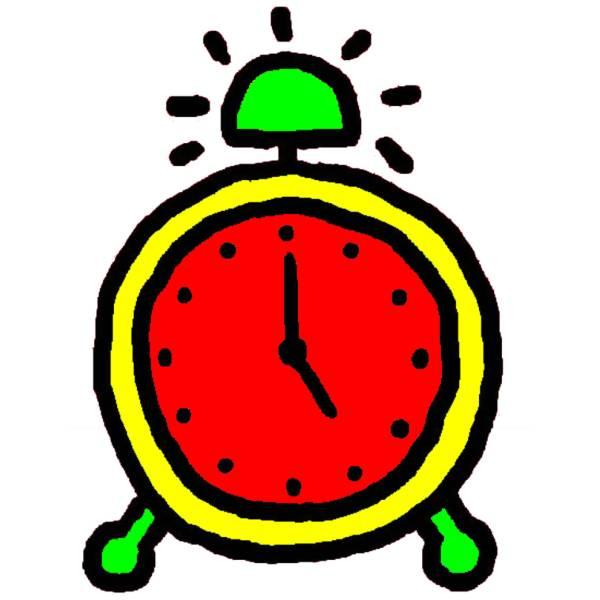 Disegno Di Orologio Sveglia A Colori Per Bambini
