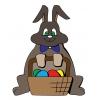 disegno di Coniglietto con Cesto di Uova a colori