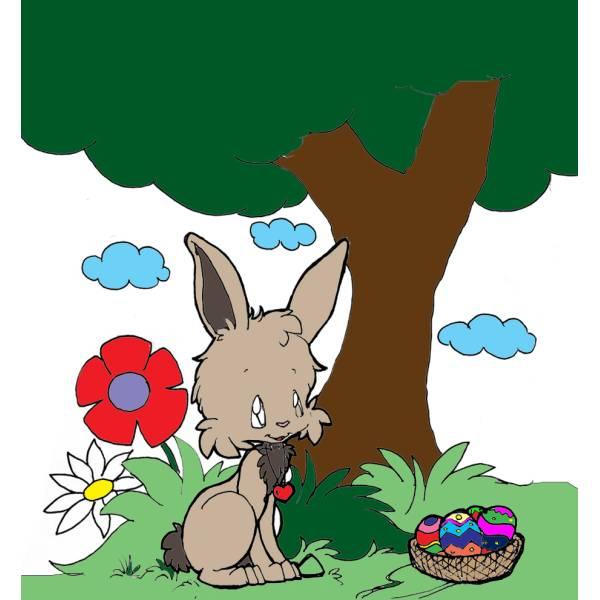 Disegno di Coniglio nel Bosco a colori