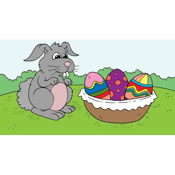 Disegno di Il Coniglio e le Uova a colori