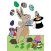 disegno di Coniglio Mago di Pasqua a colori