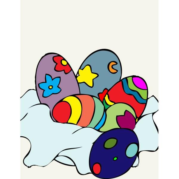 Disegno di Uova Fantasia di Pasqua a colori