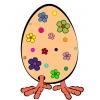 Disegno di Uovo con le Zampe a colori