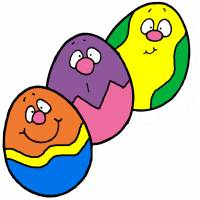 Disegno di Uova di Pasqua a colori
