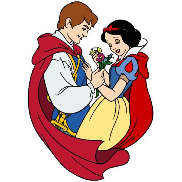 Disegno di Biancaneve e il Principe Azzurro a colori