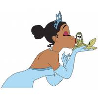 Disegno di La Principessa e il Ranocchio a colori