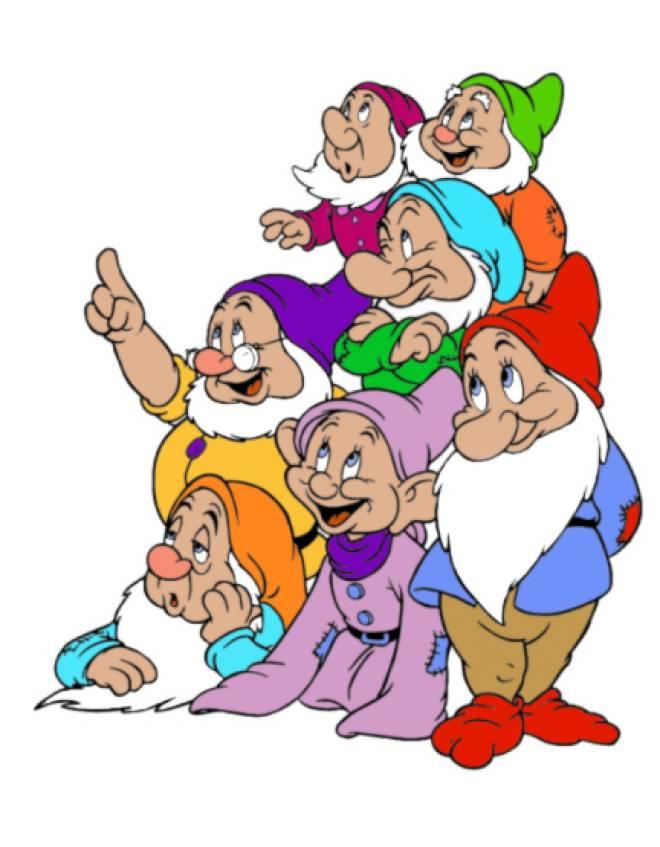 Disegno di i sette nani a colori per bambini